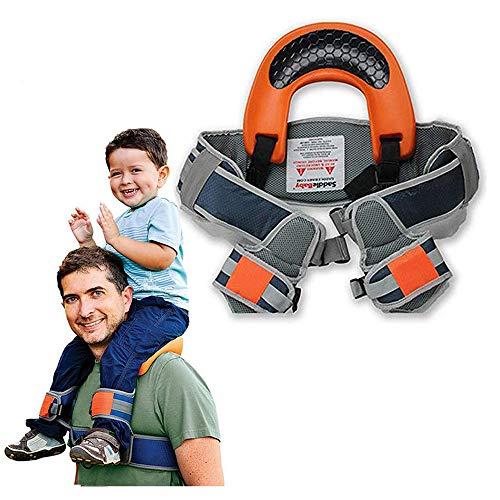 Child Shoulder Carrier Baby Saddle Toddler Hiking Backpack Baby Ankle Straps Hands Free Backpack-Holds a 44.1lb Child