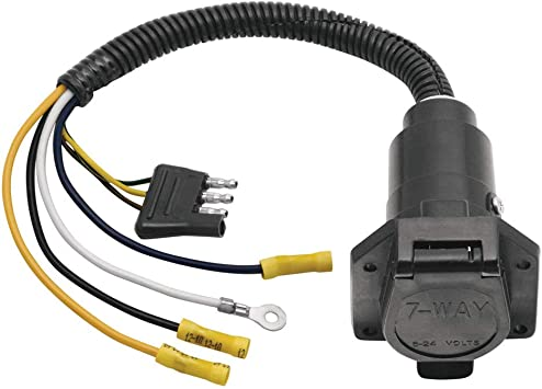 Amazon.com: Reese 20321 Adapter/Connector 4-Flat to 7-: Automotive | Reese Wiring Diagram |  | Amazon.com