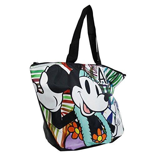 Disney Minnie Aloha Borsa da Mare a Secchiello Fondo Tondo a Mano Shopping Pic Nic