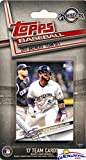 Milwaukee Brewers 2017 Topps Baseball EXCLUSIVE Special Limited Edition 17 Card Complete Team Set with Ryan Braun,Jonathan Villar,Orlando Arcia & More Stars & Rookies! Shipped in Bubble Mailer WOWZZER