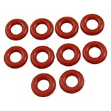 TOOGOO 10mm x 3mm Silicone O Ring Oil Sealing Washers, Red, 10 Pieces