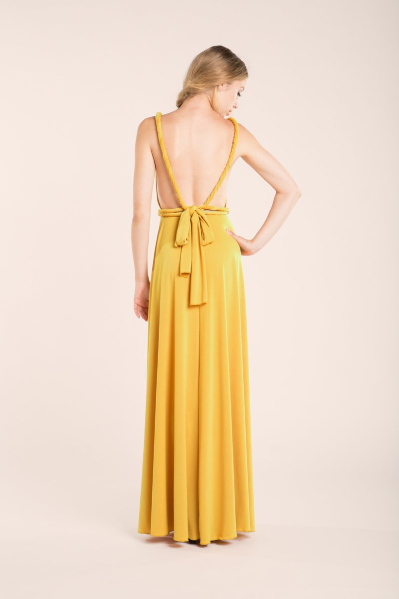 Amazon.com: Prom dress, Mustard prom dress, yellow long dress, mustard bridesmaid dress, yellow prom dress, open back dress, yellow evening dresses: ...