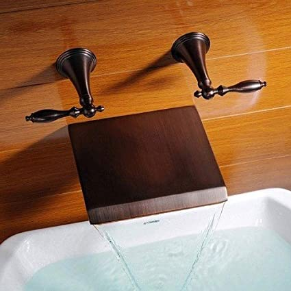 Ouku® Wall Mount Contemporary Bathroom Bathtub Faucets Oil Rubbed ...