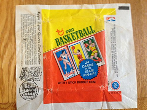 TOPPS 1980-81 PRO BASKETBALL BUBBLE GUM & TRADING CARD WRAPPER NICE GRADE Bubble Gum Trading Cards