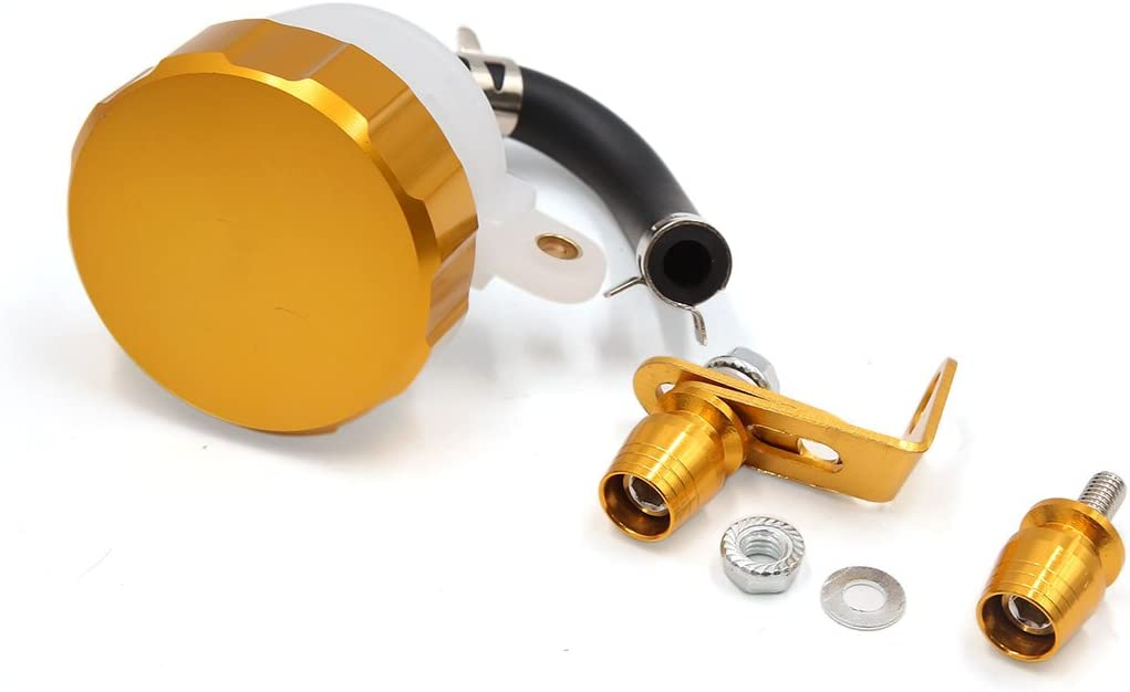 Sourcingmap Gold Tone Cylinder Oil Reservoir Motorcycle Front Brake Clutch Tank Fluid Cup