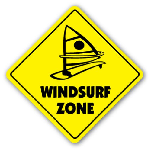 WINDSURF ZONE Sign new signs surf windsurfing sail