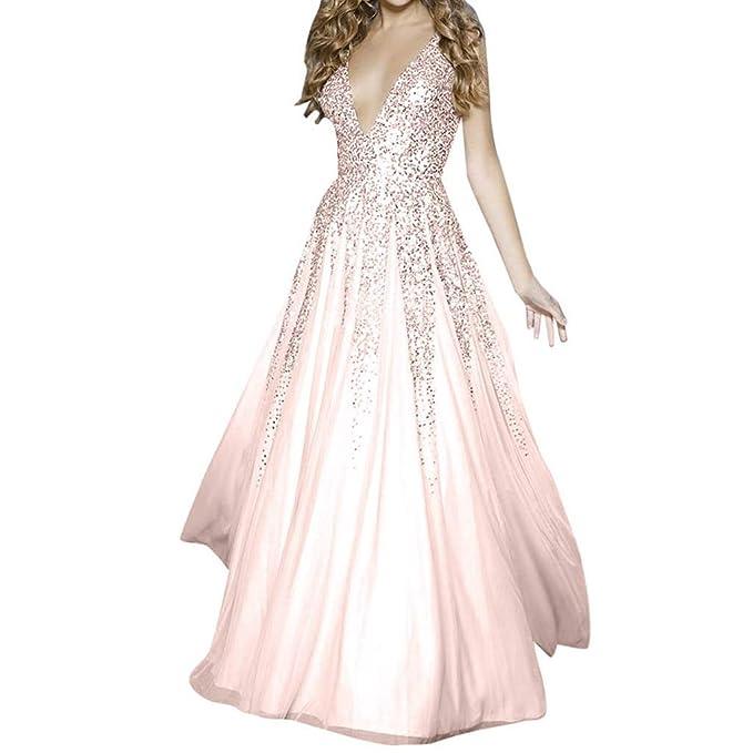 911f2ee95e28 JiaMeng Vestiti Donna Eleganti Ragazza Invernali di Moda in Pizzo Giuntura  Chiffon delle Abiti Cerimonia Rotondo