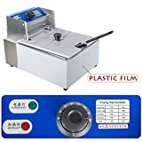 5.5L Electric Countertop Deep Fryer Commercial Basket Electric Fry Restaurant 2500W