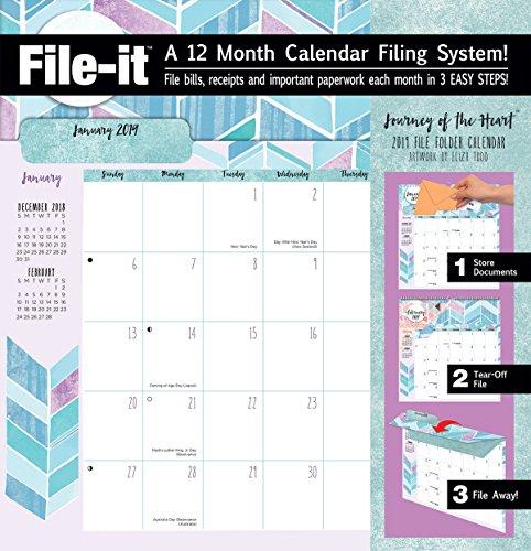 Lang WSBL Journey of The Heart 2019 File-It Office Wall Calendar (19997006037)