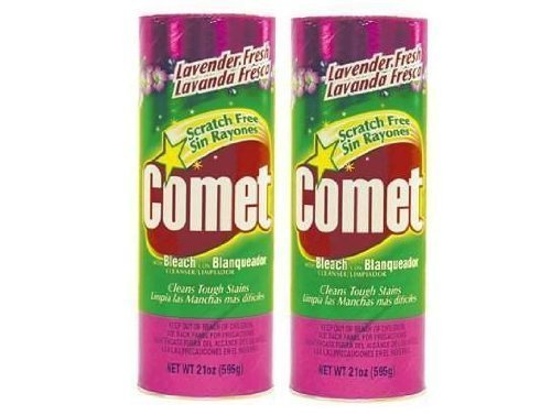 Comet Cleaner with Bleach Powder Lavender Fresh 21-Ounces | Scratch-Free | - Cleanser Scouring
