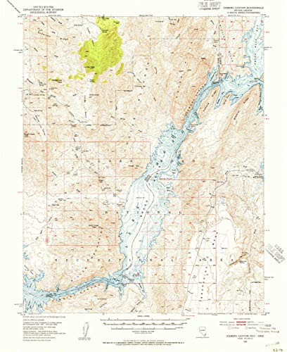YellowMaps Iceberg Canyon NV topo map, 1:62500 Scale, 15 X 15 Minute, Historical, 1953, Updated 1955, 20.7 x 16.9 in - Paper -