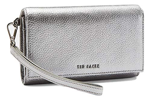 c76a94d7174659 Ted Baker Holli Textured Leather French Purse in Gunmetal RRP £75   Amazon.co.uk  Clothing