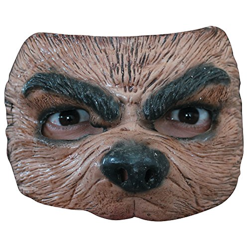 Fun Express - Half Wolf Mask for Halloween - Apparel Accessories - Costume Accessories - Masks - Halloween - 1 Piece]()