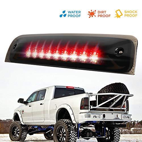Blk 2009-2018 Dodge Ram 1500 10-18 2500 3500 LED 3rd Brake Light Stop Cargo Lamp