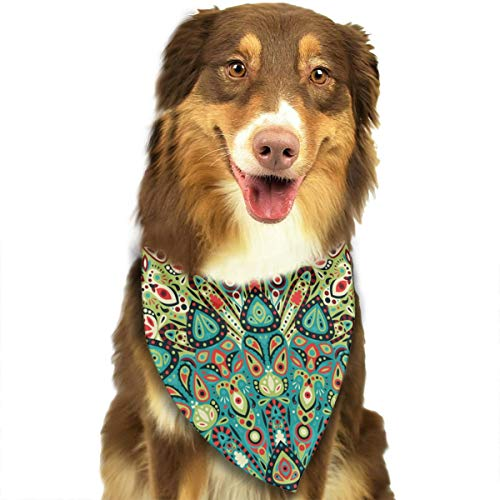 OURFASHION Retro 60s Geometric Bandana Triangle Bibs Scarfs Accessories Pet Cats Puppies.Size is About 27.6x11.8 Inches (70x30cm).