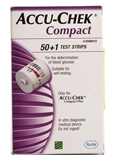 101 Compact - Accu-Chek Compact 51 Test Strips - for use with Compact Plus Meters Only- Pack of 2 Boxes