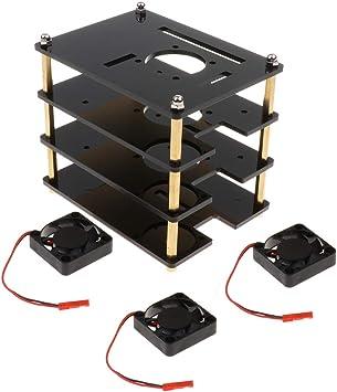Gazechimp Caja/Caja/Caja De Acrílico con Ventilador para Raspberry ...