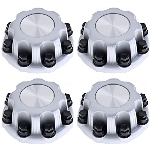 (Set of 4 Replacement Aftermarket SILVER Center Caps 16