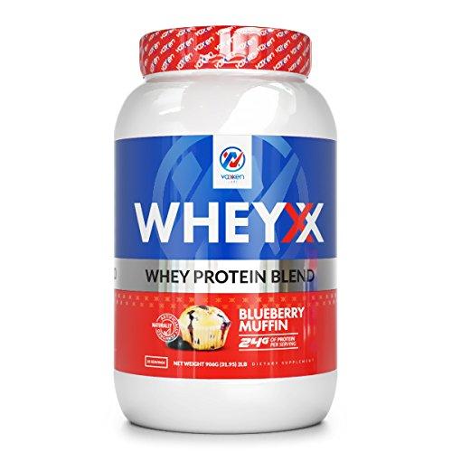 Vaxxen Labs WheyXX Whey Protein Powder Blend Blueberry Muffin 2LB (Body Old 09)