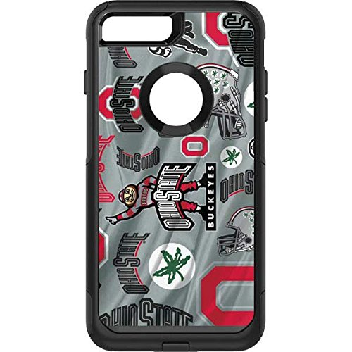 Skinit Ohio State Pattern OtterBox Commuter iPhone 7 Plus Skin for CASE - Officially Licensed Ohio State University Skin for Popular Cases Decal - Ultra Thin, Lightweight Vinyl Decal Protection