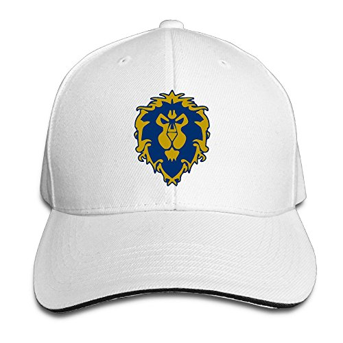BestSeller World Of Warcraft The Alliance Symbol Adjustable Sandwich Peaked Baseball Cap/Hat For Unisex