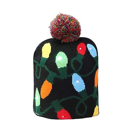 starter Sombrero de Punto - Sombrero de Navidad de Punto LED Gorra  Protectora cálida Decoración de 5403131b9ef