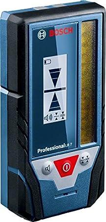 Bosch Professional LR 7 - Receptor para nivel láser rojo y verde (alcance de radio 50 m, con soporte, en caja)