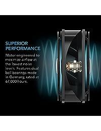 AC Infinity, AXIAL 1225, Ventilador de refrigeración, 115 V de CA, 120 mm x 120 mm x 25 mm, baja velocidad