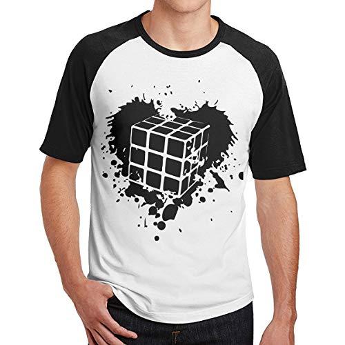 2 Pack Rubiks Cube Heart Men's Short-Sleeve Baseball