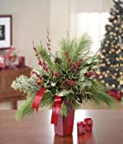 Artistic Collection - Everlasting Evergreen - Christmas Flowers Delivery - Christmas Centerpiece -Christmas PlantsDoggy Supply Mall