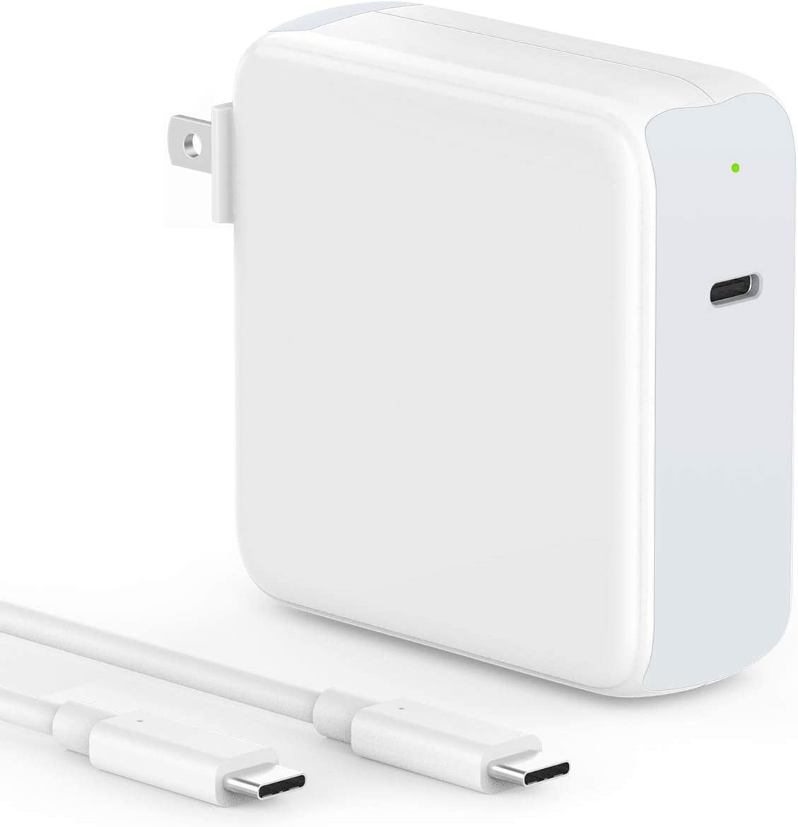 SZPOWER 96W USB C Charger Power Adapter for MacBook Pro 16, 15, 13 inch, New MacBook Air 13 inch 2020/2019/2018, iPad Pro 12.9, 11, Thunderbolt 3 Power Supply, Type C, LED, 6.6ft 5A USB C to C Cable