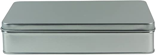 mikken # 45817 # 1 Rectangular Tarro/Galletas./Caja de Metal ...