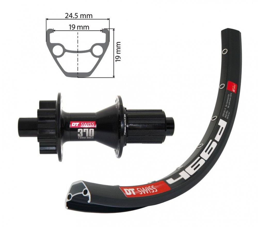 Bike-Parts 27,5´´ Hinterrad DT Swiss 466D Disc + DT 370, 6-Loch 8-10s (SA)
