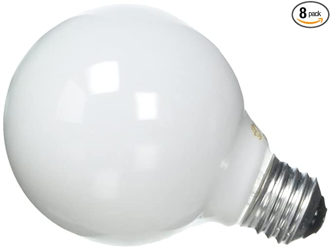 GE Soft White Decorative 60W Incandescent G25 Globe Light Bulbs 14