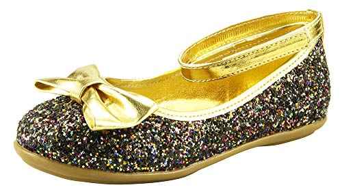 The Doll Maker Elastic Bow Glitter Flat-FBA173059A-8]()