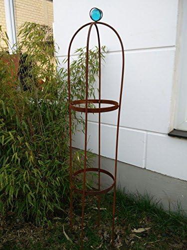 Zen Man jardín pérgola Stark material Acero inoxidable rosensaeule enrejado Rose estructura Rank Torre Rose arco oxidado azul H120 * 22 * 22 cm 101547: Amazon.es: Jardín