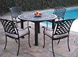 CBM Outdoor Cast Aluminum Patio Furniture 5 Pc Dining Set A CBM1290