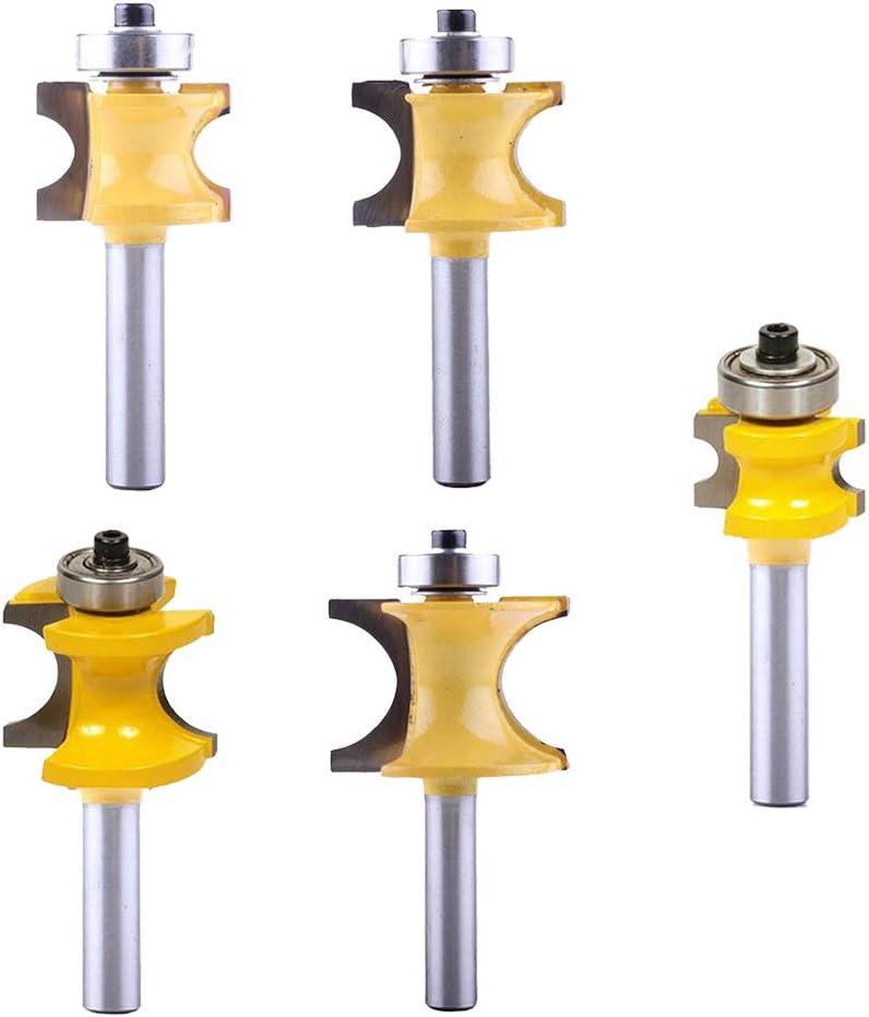 C3 Hartmetall Holzbearbeitung Fr/äser Doppelfl/öte Fr/äser 5 St/ü 1//4 3//8 1//2 5//8 3//4 Lager Bullnose Fr/äser