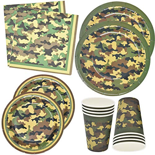 Camo Party Supplies Set 24 9