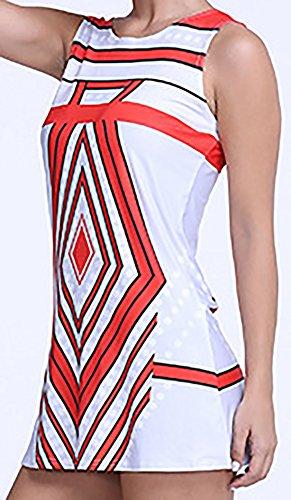 erdbeerloft - Damen Geometrisch Gemustertes Longtop, XS-XL, Mehrfarbig