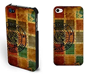 New York Iphone 4/4s Case Statue of Liberty Film Case Cover for Teens Vintage