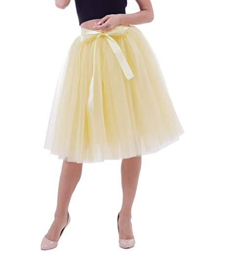 Laus Faldas de Tul Mujer - 5 Capas /6 Capas Falda Tutu Larga ...