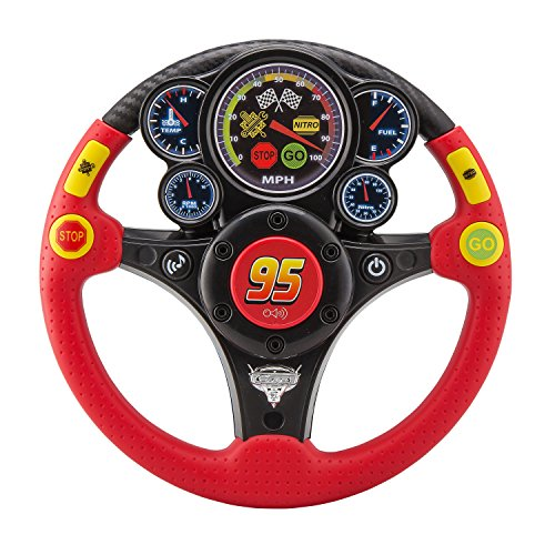 eKids Disney Pixar's Cars 3 MP3 Smart Wheel with Stream Catcher Technology, Lightning McQueen Toy Steering Wheel , Motion Reactive Steering Wheel, Audio Hook Up, Disney Cars Toy (Lightning Mcqueen And Mater Best Friends)