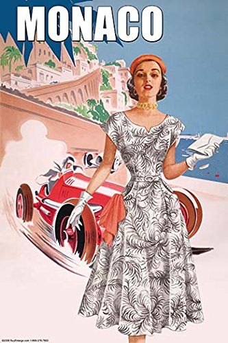 Monaco Ladys 50s Fashion I 28x42 Giclee On Canvas ()