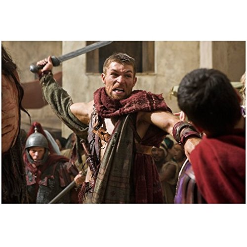 Spartacus: War of the Damned (TV Series 2010 - 2013) 8 Inch x 10 Inch Photo Liam McIntyre About to Swing Sword ()