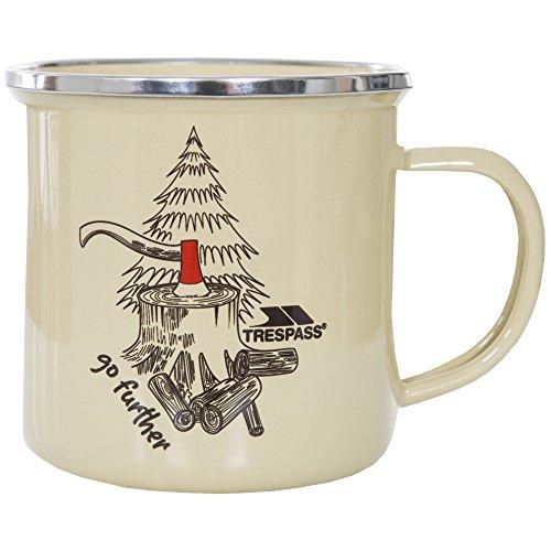 Trespass Elma Enamel Camping Mug (One Size) (Timber Print)