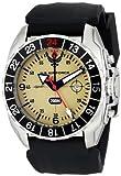 Wrist Armor Men's WA328 C3 Stainless Steel Analog Display Swiss Quartz GMT Watch with Black Silicone Strap offers