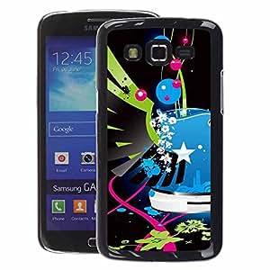 A-type Arte & diseño plástico duro Fundas Cover Cubre Hard Case Cover para Samsung Galaxy Grand 2 (Wings Street Art Pop Graffiti Police Blue)