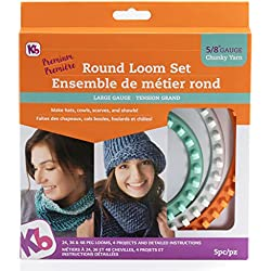 Authentic Knitting Board KB8150 'Premium' Chunky Round Knitting Loom Set