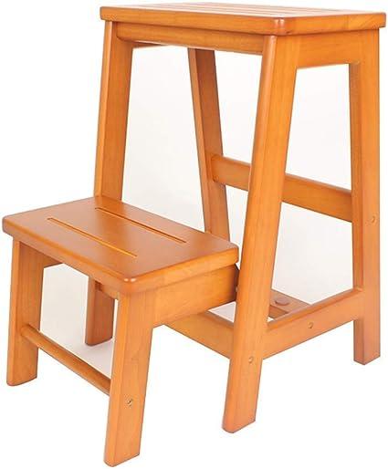 Zichen Escalera Escalera Taburete plegable con peldaño Escalera plegable Taburete plegable Taburete de madera maciza con peldaños Escalera de 3 escalones for uso doméstico Escalera de dos niveles colo: Amazon.es: Instrumentos musicales